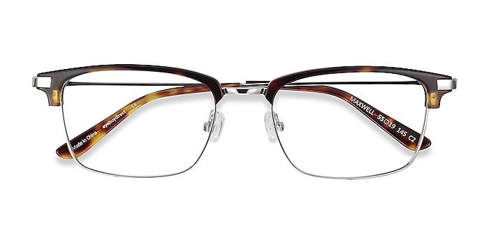 Tortoise Maxwell -  Vintage Acetate, Metal Eyeglasses