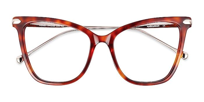 Tortoise Domy -  Fashion Acetate, Metal Eyeglasses