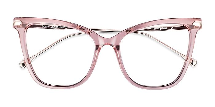 Clear Pink Domy -  Fashion Acetate, Metal Eyeglasses