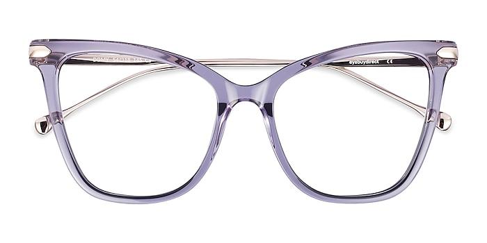 Clear Purple Domy -  Fashion Acetate, Metal Eyeglasses