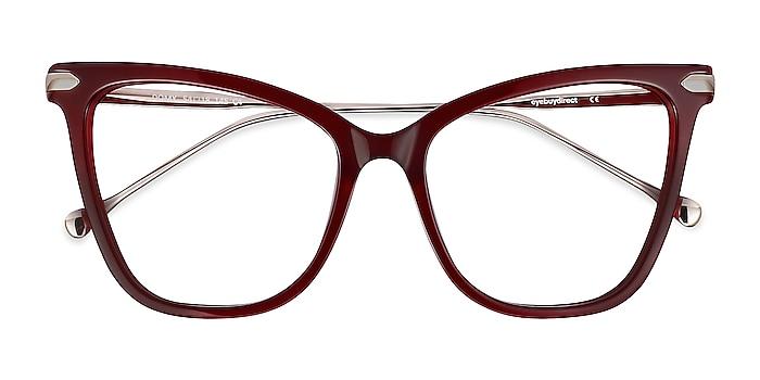 Burgundy Domy -  Fashion Acetate, Metal Eyeglasses