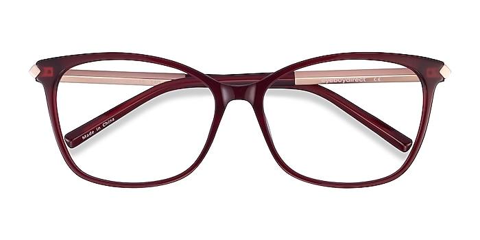Burgundy Ashley -  Colorful Acetate, Metal Eyeglasses