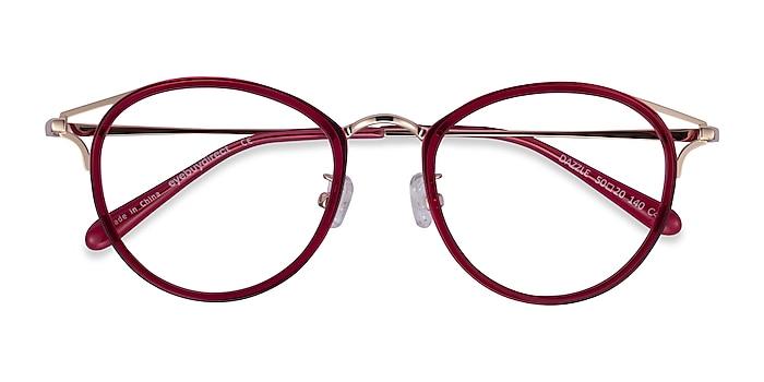 Raspberry Dazzle -  Colorful Acetate, Metal Eyeglasses