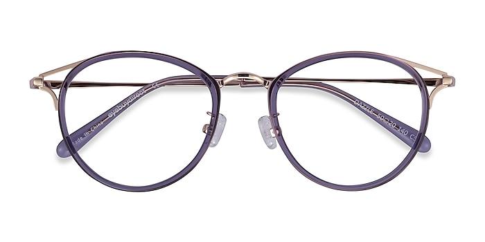 Violet Dazzle -  Coloré Acetate, Metal Lunettes de vue