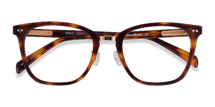 Tortoise Biblio -  Acetate, Metal Eyeglasses