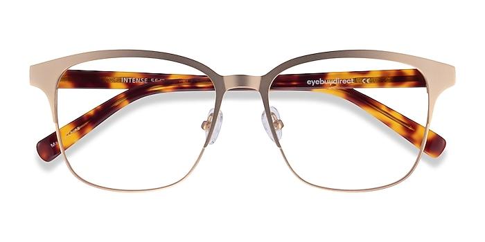 Matte Gold Tortoise Intense -  Geek Acetate Eyeglasses