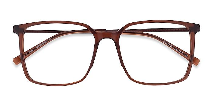 Clear Brown Easton -  Geek Acetate, Metal Lunettes de vue