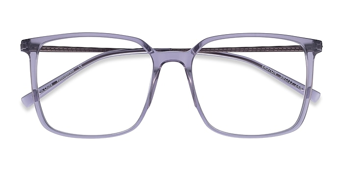 Clear Gray Easton -  Geek Acetate, Metal Eyeglasses