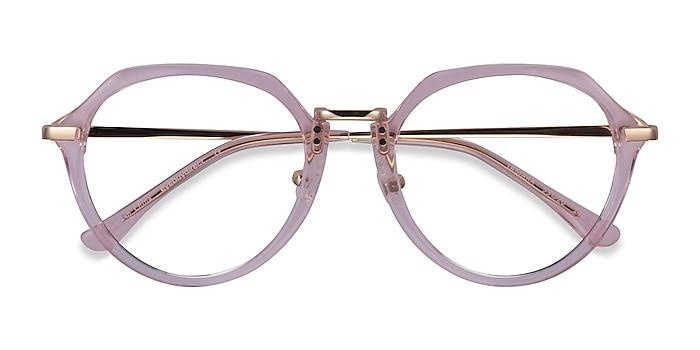 Clear Pink Tamara -  Acetate Eyeglasses