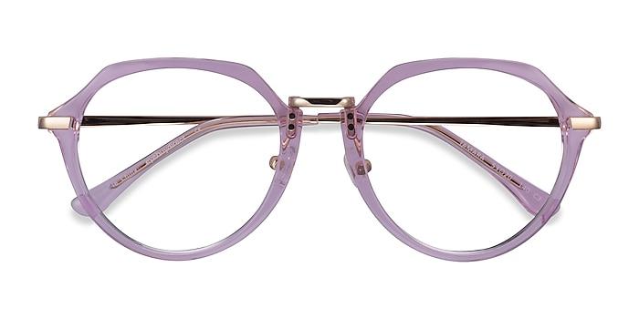 Clear Purple Tamara -  Acetate Eyeglasses