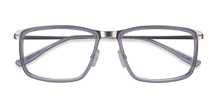 Clear Gray Silver Kairo -  Acetate Eyeglasses