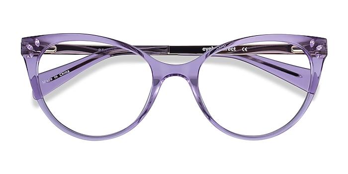 Clear Purple Beauty -  Coloré Acetate, Metal Lunettes de vue