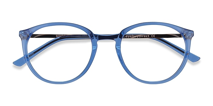 Clear Blue  Gold Mindful -  Acetate Eyeglasses