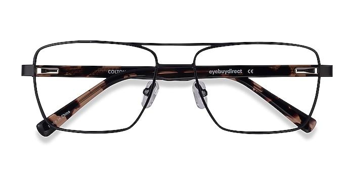 Black & Tortoise Colton -  Acetate Eyeglasses