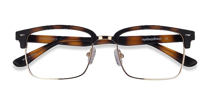 Matte Tortoise & Gold Renaissance -  Metal Eyeglasses