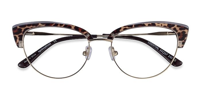 Leopard & Gold Essential -  Acetate, Metal Lunettes de vue