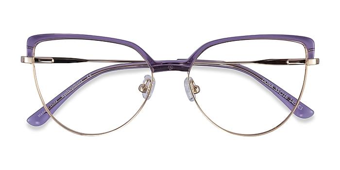 Clear Purple & Gold Dona -  Acetate, Metal Eyeglasses