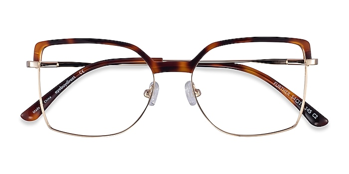 Tortoise & Gold Further -  Acetate, Metal Eyeglasses
