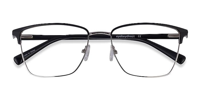 Black Silver Moore -  Acetate Eyeglasses
