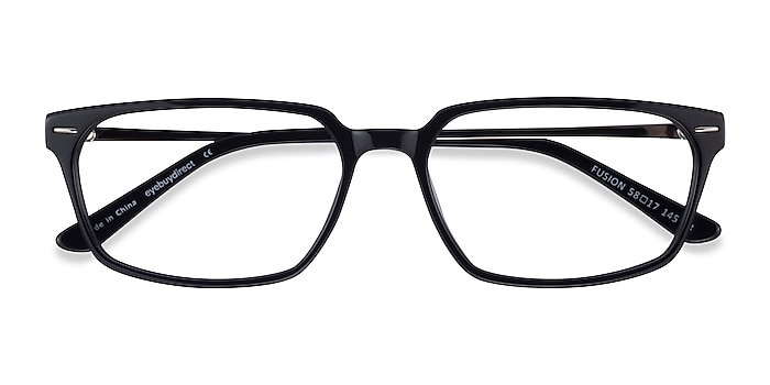 Black Silver Fusion -  Acetate Eyeglasses