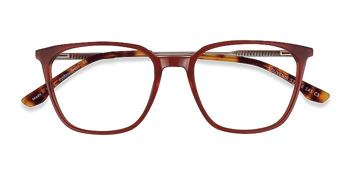 Terracotta Orange Light Gold Souvenir -  Acetate Eyeglasses