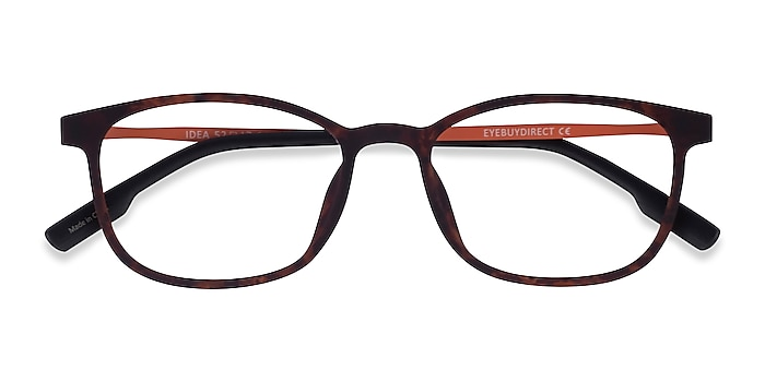 Matte Tortoise Orange Idea -  Plastic Eyeglasses