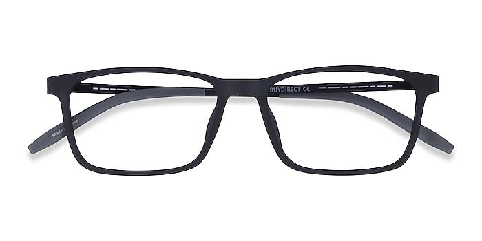 Matte Navy Black Rebus -  Metal Eyeglasses