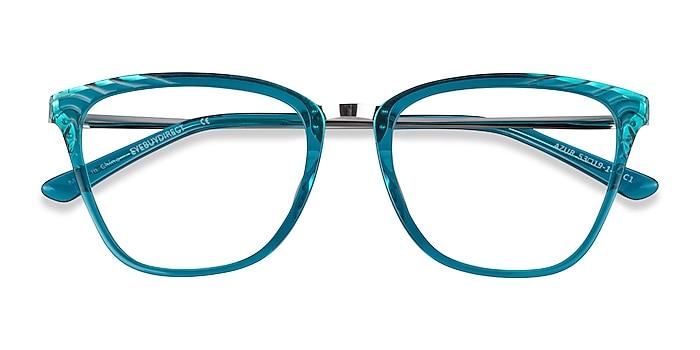 Aqua Silver Azur -  Colorful Acetate Eyeglasses