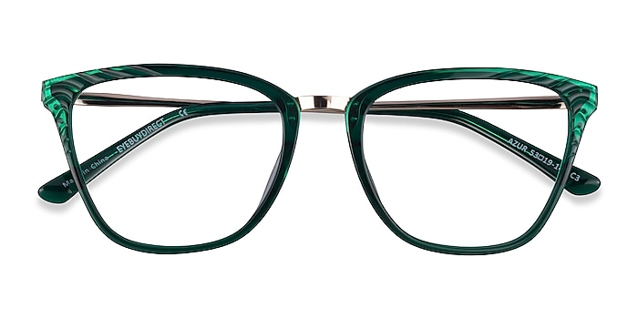 Clear Green Azur -  Colorful Acetate Eyeglasses