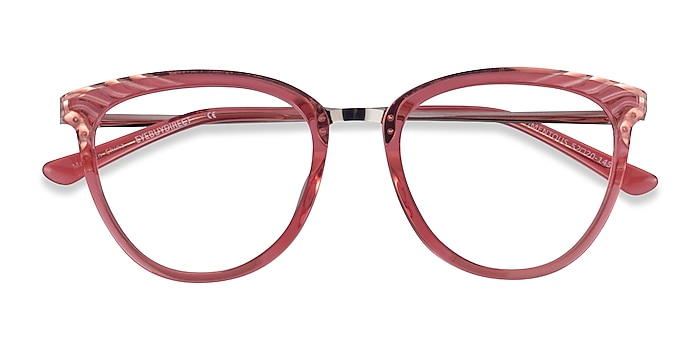 Clear Pink Momentous -  Colorful Acetate Eyeglasses