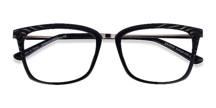 Black Gold Grande -  Acetate Eyeglasses