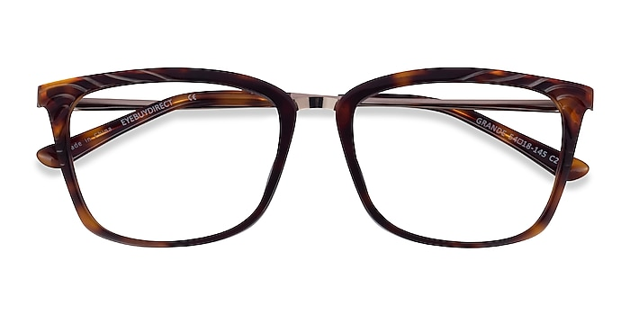 Tortoise Gold Grande -  Acetate Eyeglasses