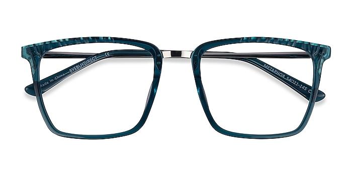 Teal Metaphor -  Colorful Acetate Eyeglasses