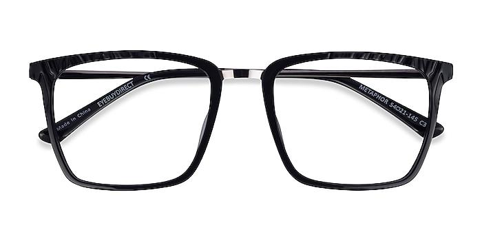 Black Metaphor -  Acetate Eyeglasses