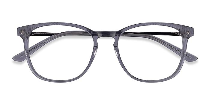 Clear Gray Astute -  Classic Acetate Eyeglasses