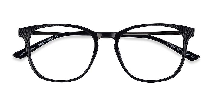 Black Astute -  Classic Acetate Eyeglasses