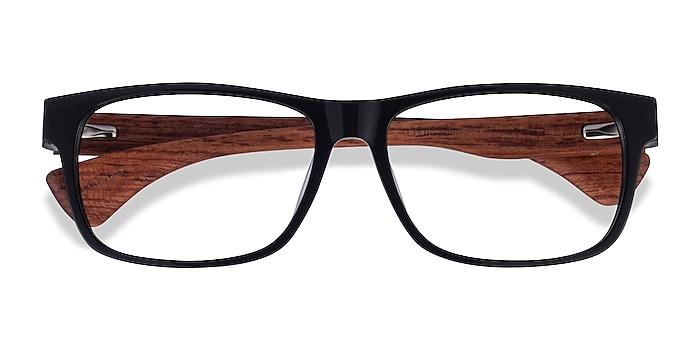 Black & Wood Taiga -  Acetate Eyeglasses