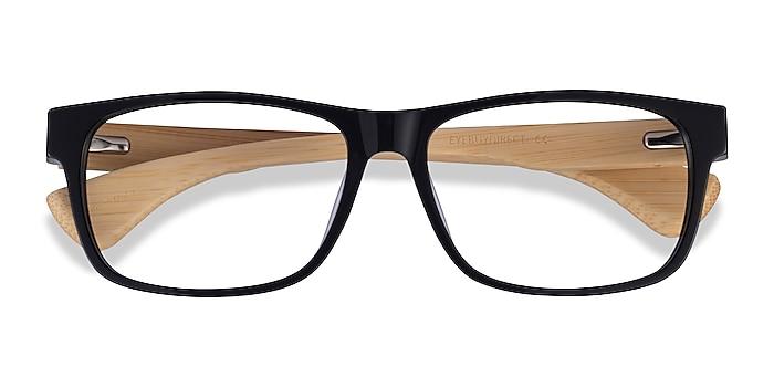 Black & Light Wood Taiga -  Acetate Eyeglasses