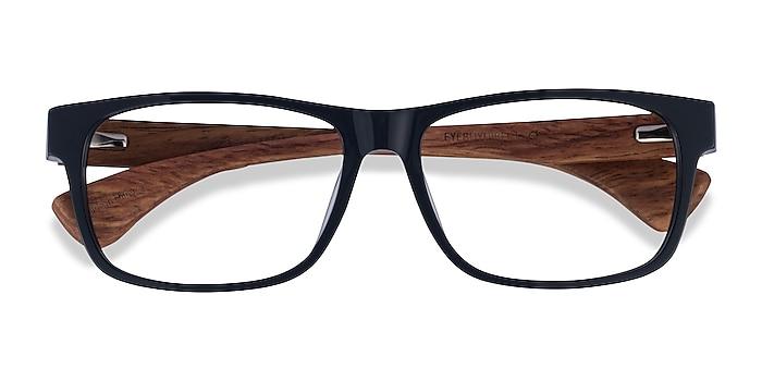 Dark Gray & Wood Taiga -  Acetate Eyeglasses