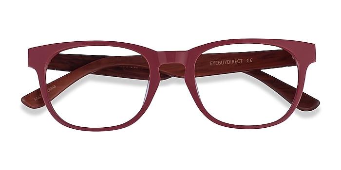 Red & Red Wood Tongass -  Acetate Eyeglasses