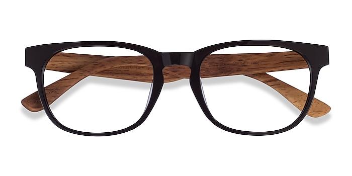 Dark Brown & Wood Tongass -  Acétate Lunettes de vue