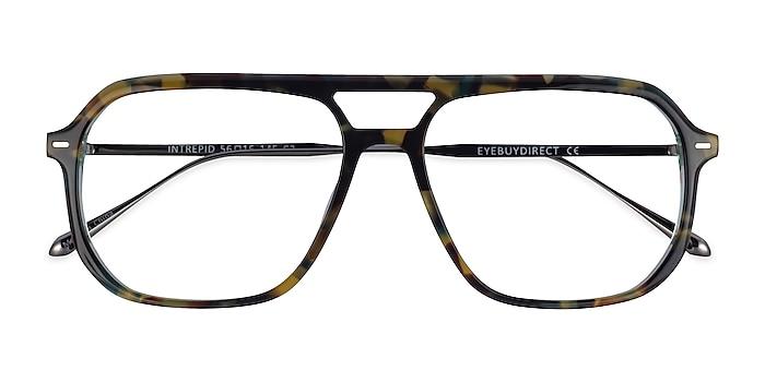 Green Tortoise Intrepid -  Acetate Eyeglasses