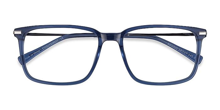 Clear Blue Silver Boscus -  Acetate Eyeglasses