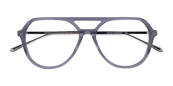 Clear Gray Silver Cumulus -  Acetate Eyeglasses