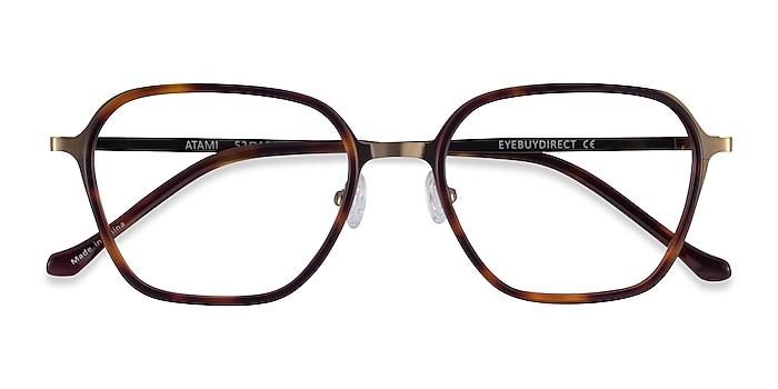 Tortoise Matte Gold Atami -  Acetate Eyeglasses