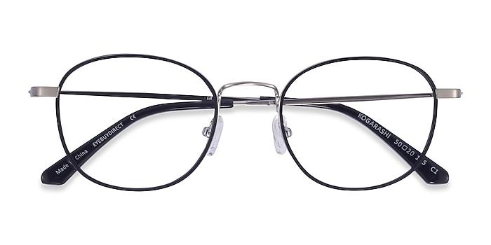 Black Silver Kogarashi -  Acetate Eyeglasses