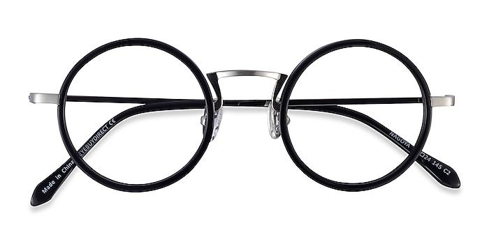 Black Silver Nagoya -  Acetate Eyeglasses