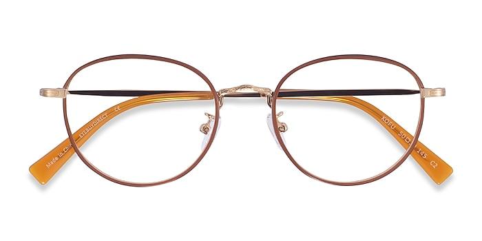Brown Gold Kofu -  Acetate Eyeglasses