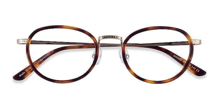 Tortoise Gold Myoko -  Acetate Eyeglasses