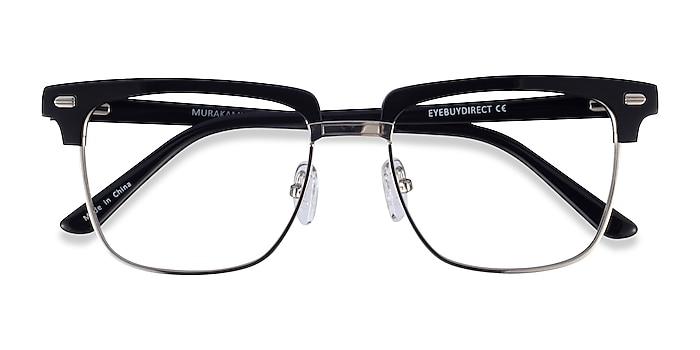 Black Silver Murakami -  Acetate Eyeglasses